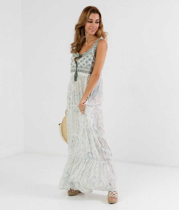 ADAHY DRESS - WHITE