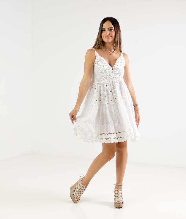 DRESS TIARE - WHITE