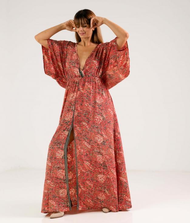 RILANTA DRESS - CORAL