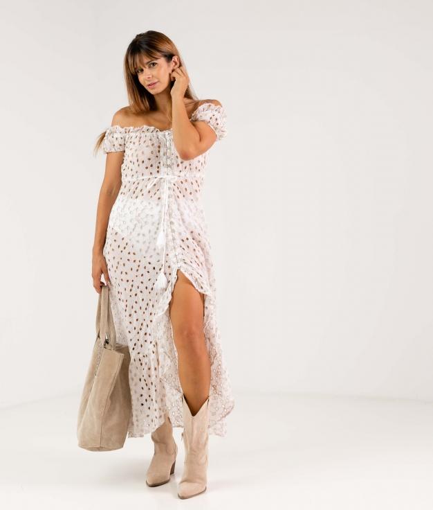 DORELE DRESS - BEIGE