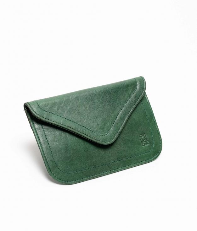 Monedero piel Titti Mix - green