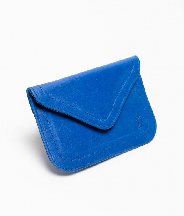 Monedero piel Titti Mix - blu