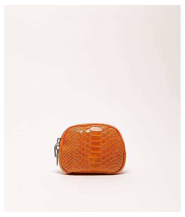Monedero piel Nimo - arancione
