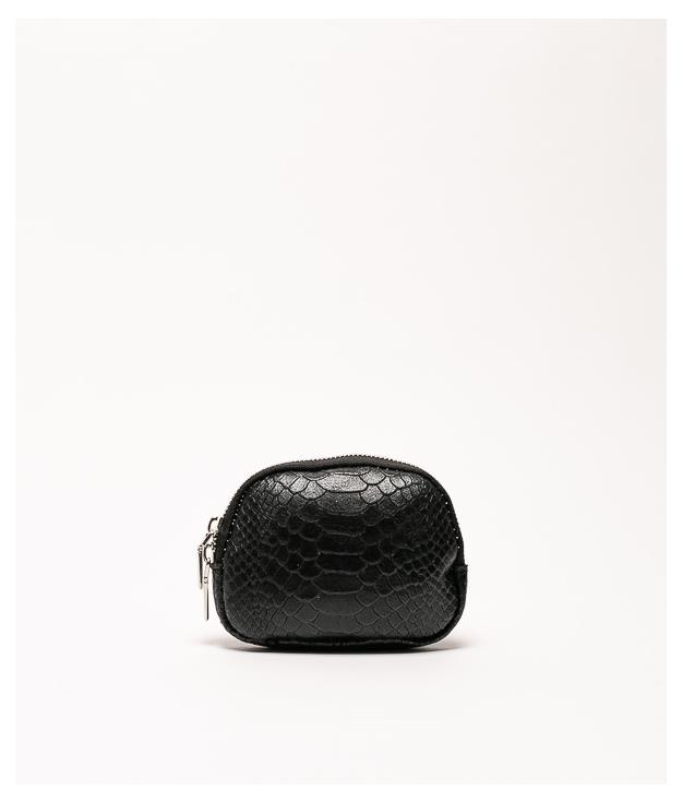 Monedero piel Nimo - negro