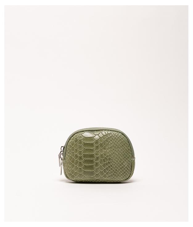 Monedero piel Nimo - verde militar