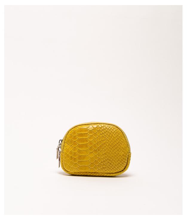 Monedero piel Nimo - mustard