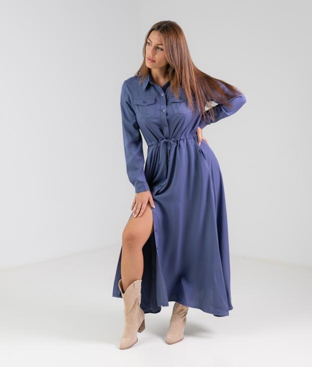Vestido Texon - Azul