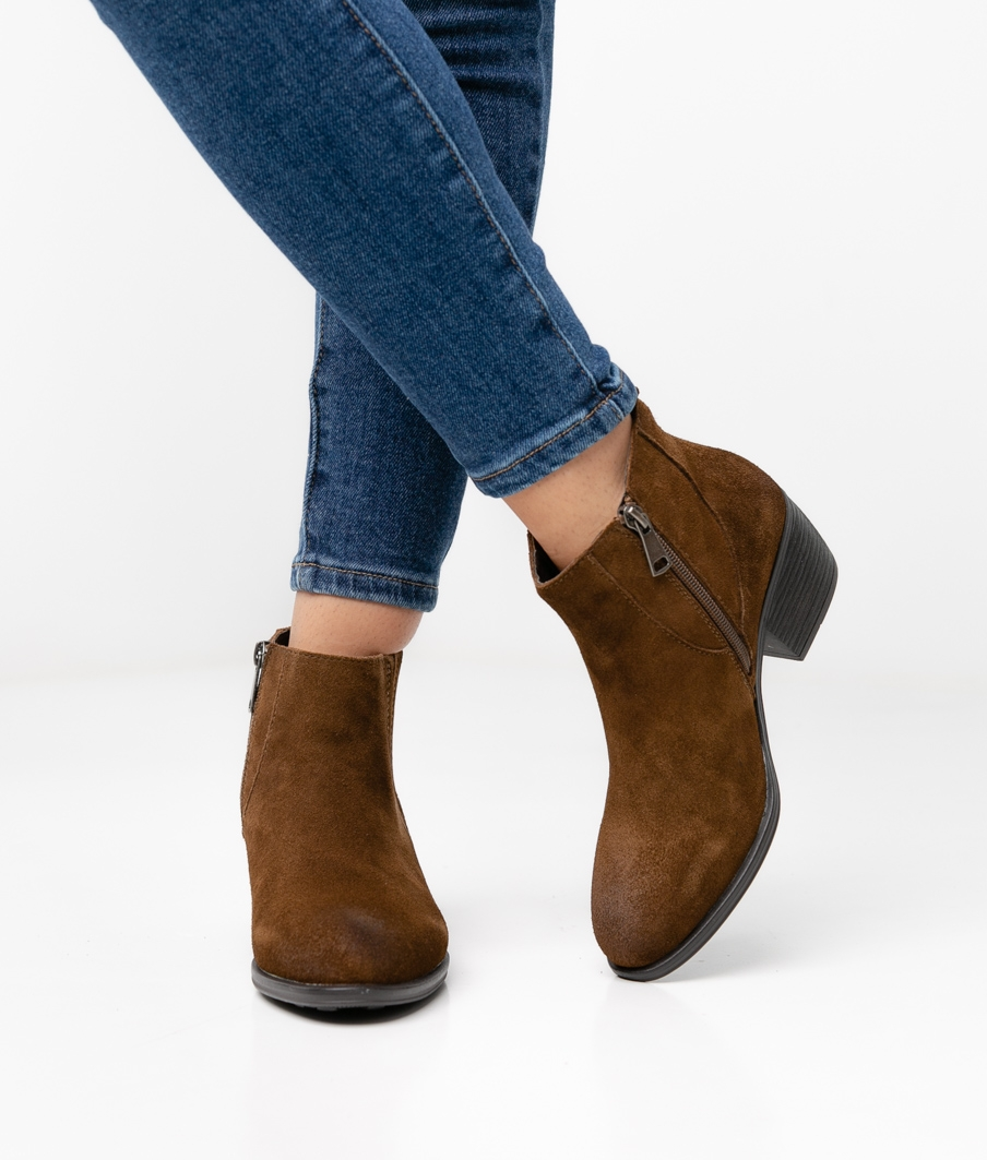 CARMINE LOW BOOT - BROWN
