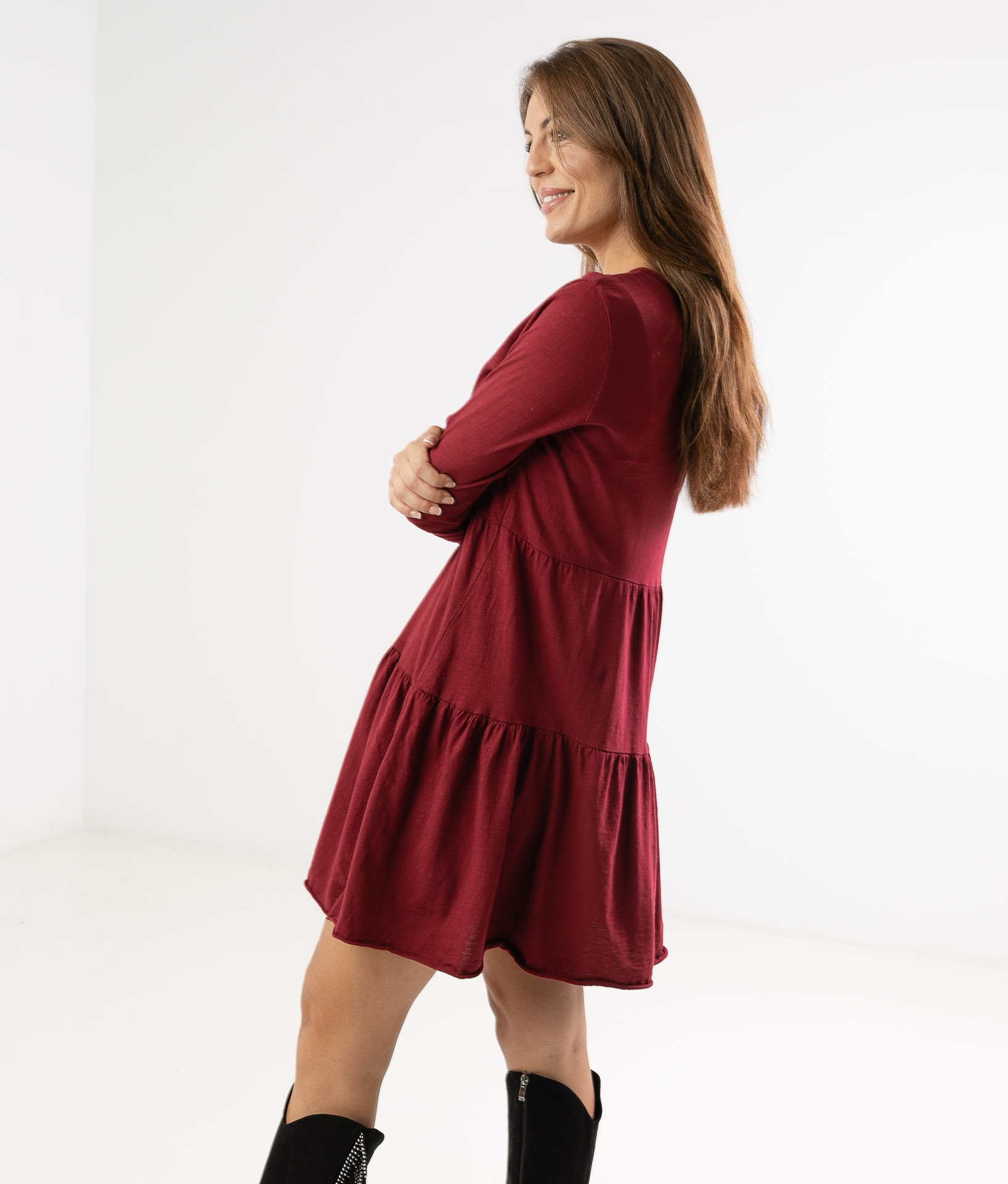 CIMERA DRESS - MAROON