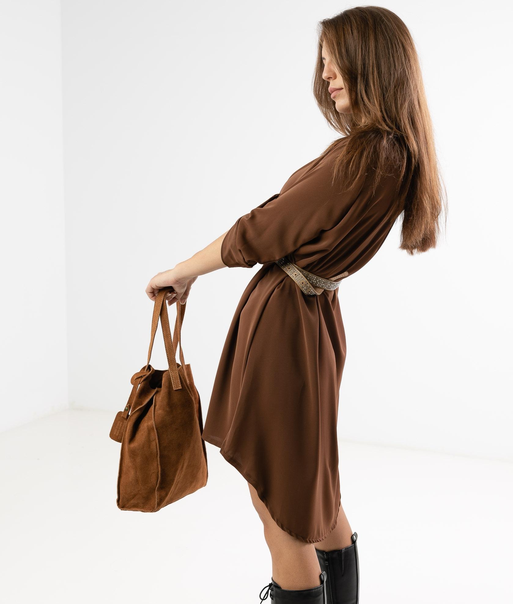 VIMALA DRESS - CAMEL