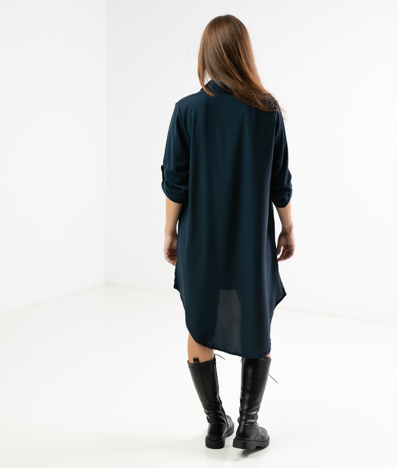 VIMALA DRESS - DARK BLUE