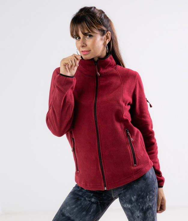 Fleece Jacket Luciu - Maroon