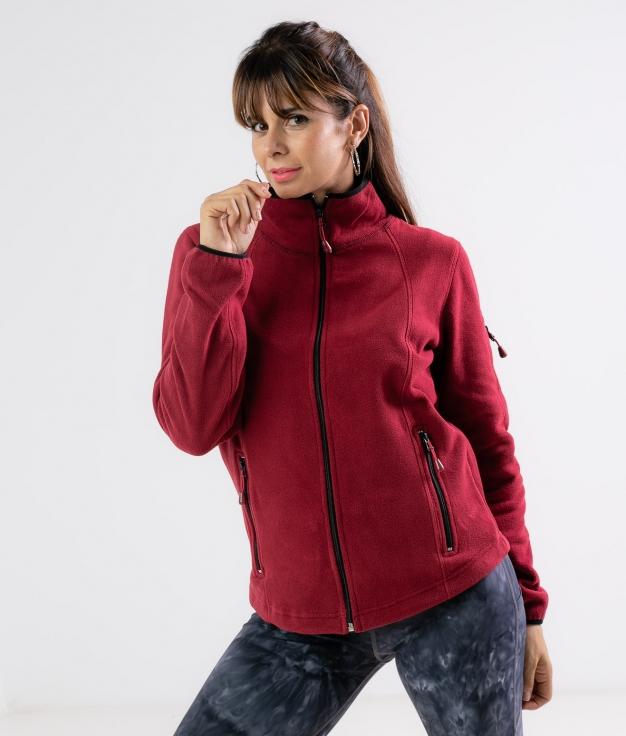 Jaqueta de lã Luciu - Grená