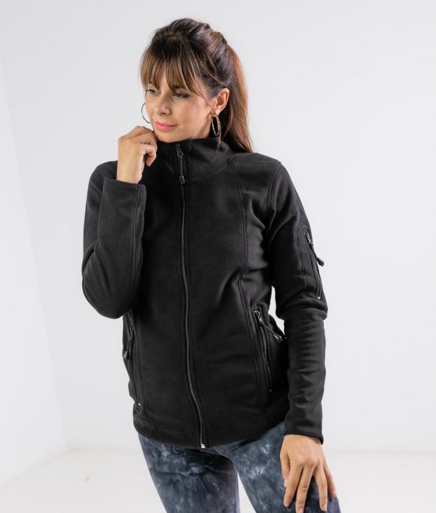Fleece Jacket Luciu - Black