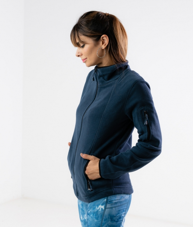 Jaqueta de lã Luciu - Azul Marinho