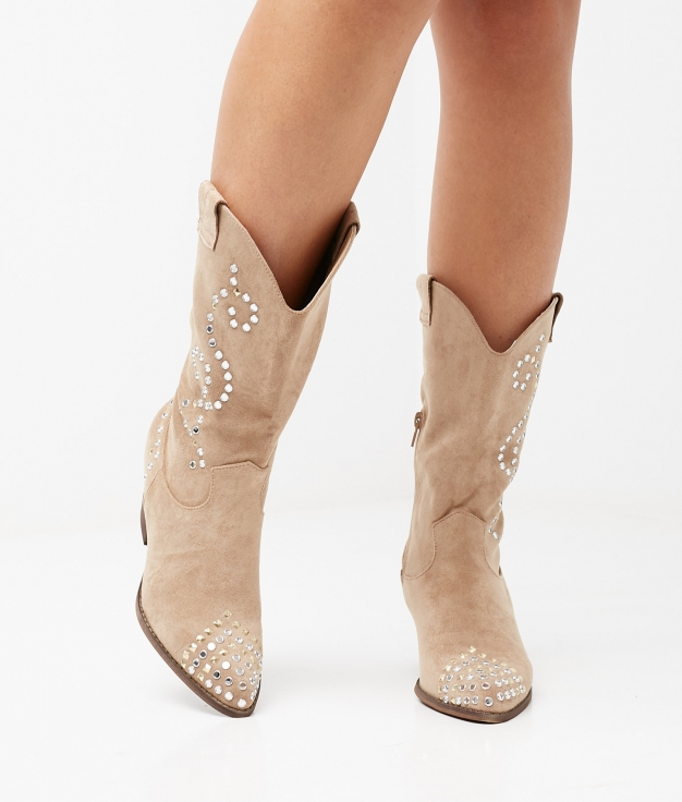 BRALY BOOT - BEIGE