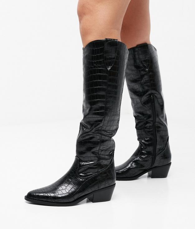 Knee-Lenght Boot Crasna - Black