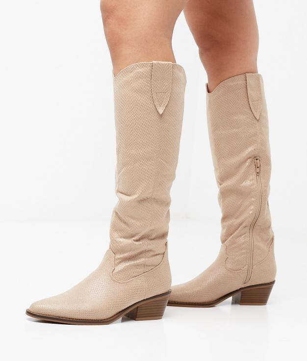Knee-Lenght Boot Viela - Beige