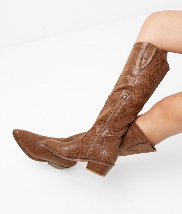 Knee-Lenght Boot Viela - Camel