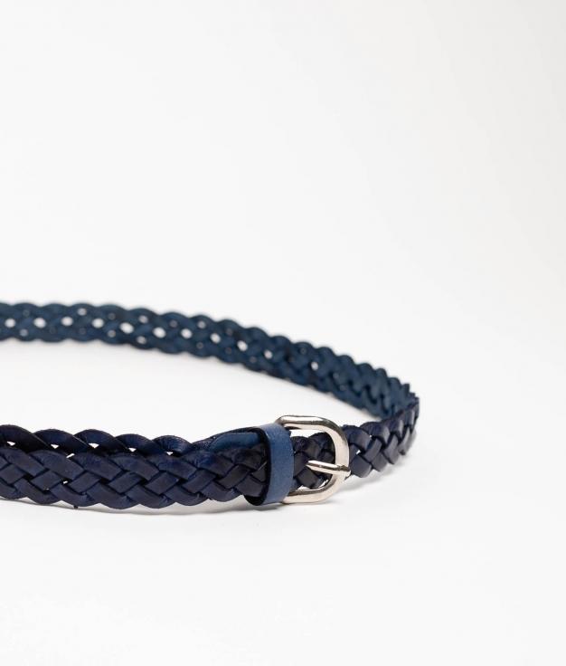DOINA LEATHER BELT - NAVY BLUE