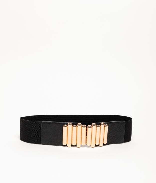 FIAMA ELASTIC BELT - BLACK/GOLD