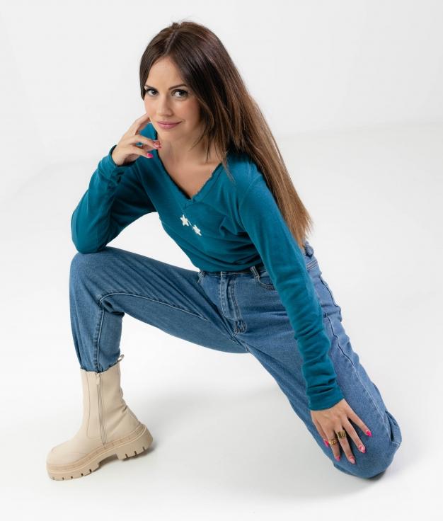 GASNA T-SHIRT - BLUE