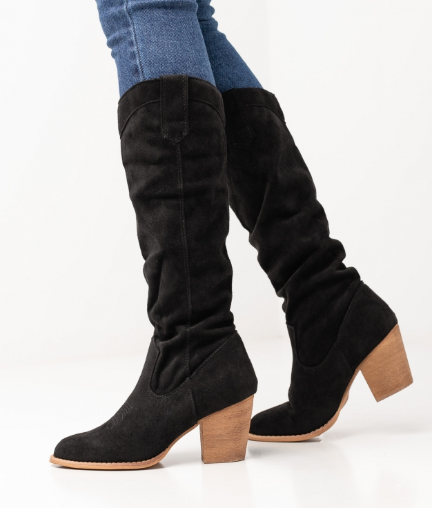 Limpa Knee-Lenght Boot - Black