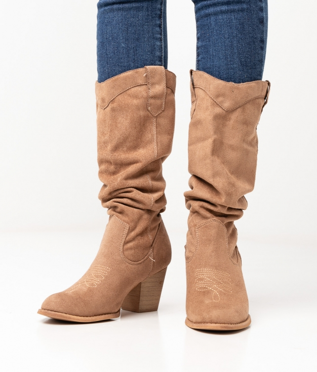 Limpa Knee-Lenght Boot - Beige
