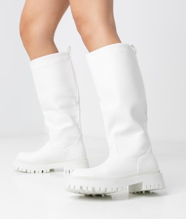 YERTA KNEE-LENGHT BOOT - WHITE