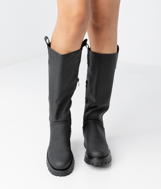 IVERY KNEE-LENGHT BOOT - BLACK