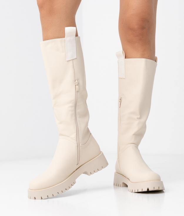 IVERY KNEE-LENGHT BOOT - BEIGE