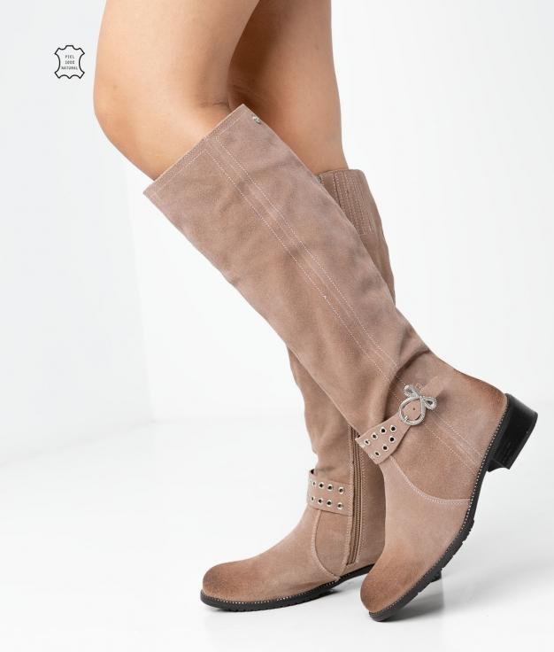 Knee-Length Boot Bukan - Taupe