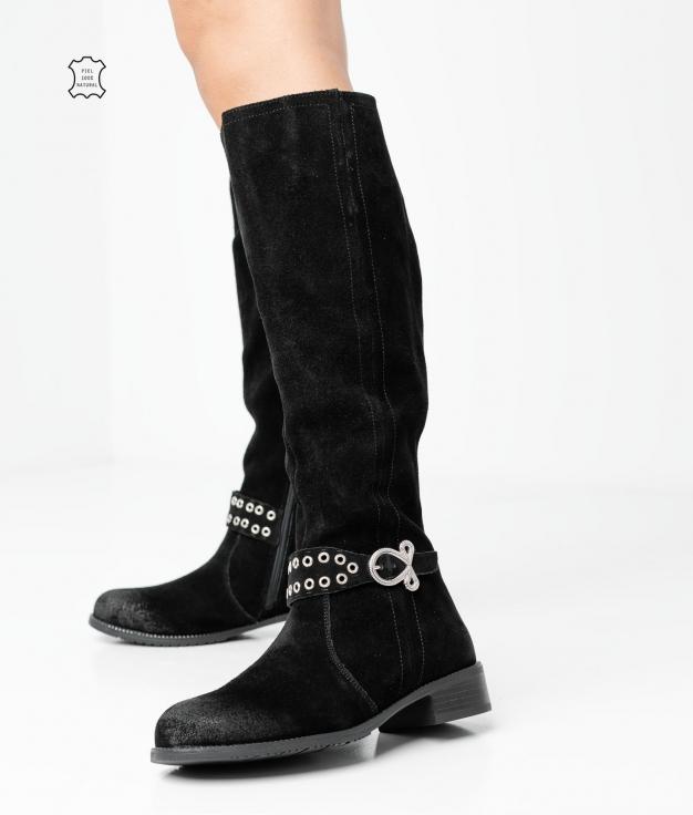 Knee-Length Boot Bukan - Black