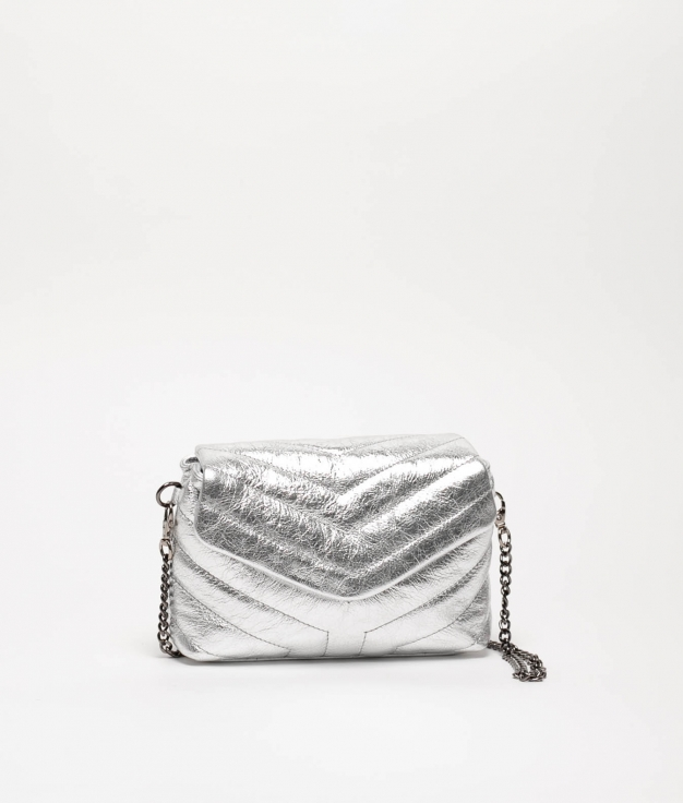 SAC IN CUIR TANIA - ARGENT