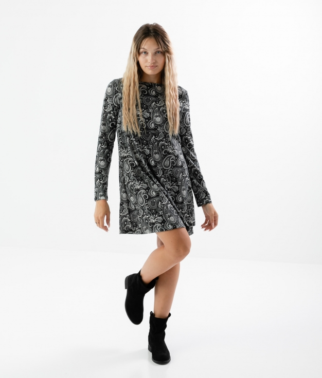 Robe Pasley - Gris