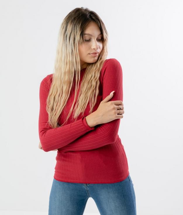 Camiseta Linta - Grená
