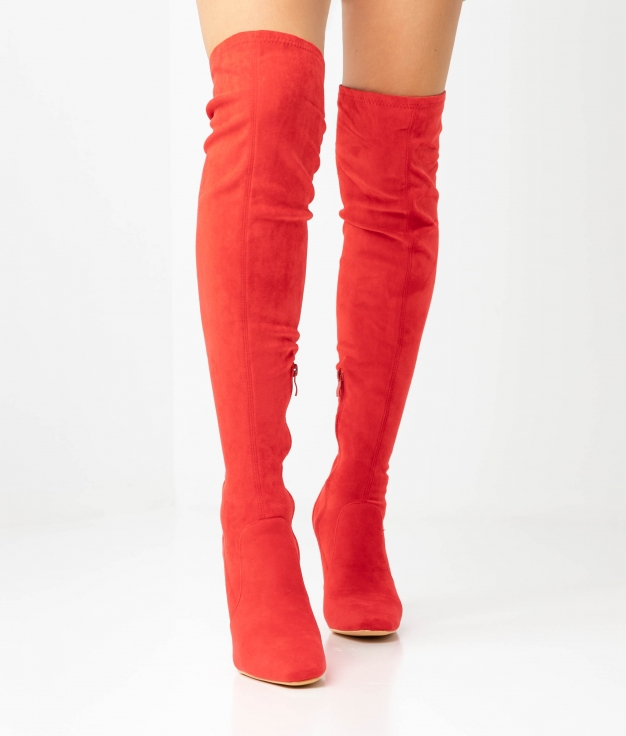 BOTTE CUISSARDE TRANDY - ROUGE