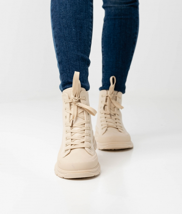LESTER LOW BOOT - BEIGE