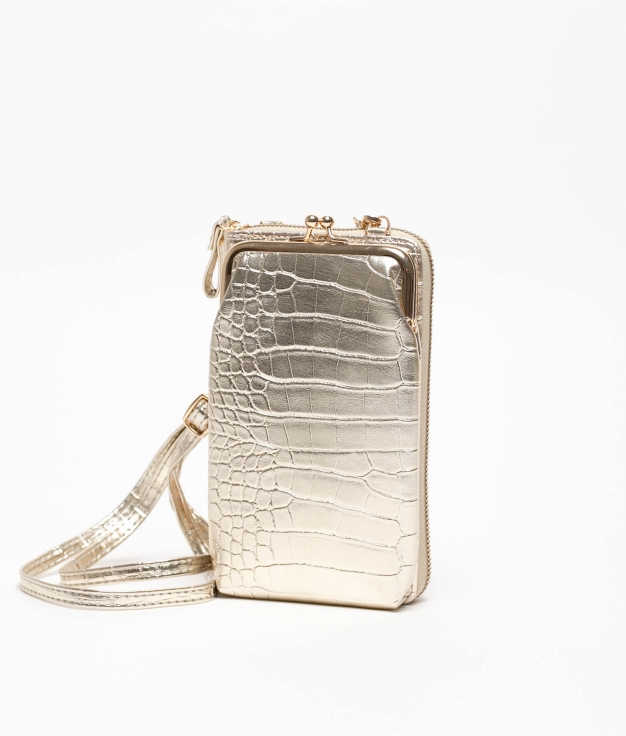 Wallet Mobile Holder Galapa - Golden