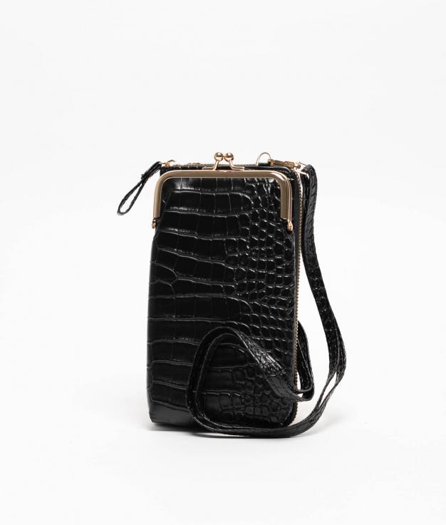 Wallet Mobile Holder Galapa - Black
