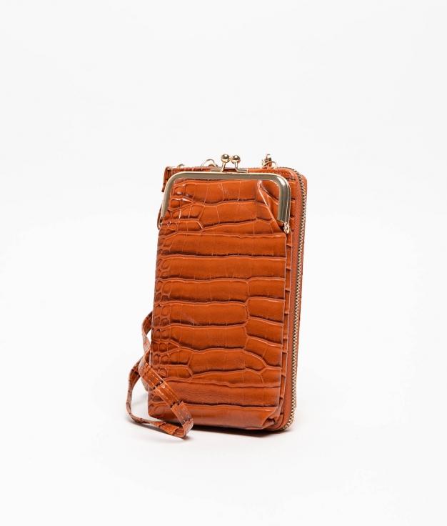 Wallet Mobile Holder Galapa - Brown