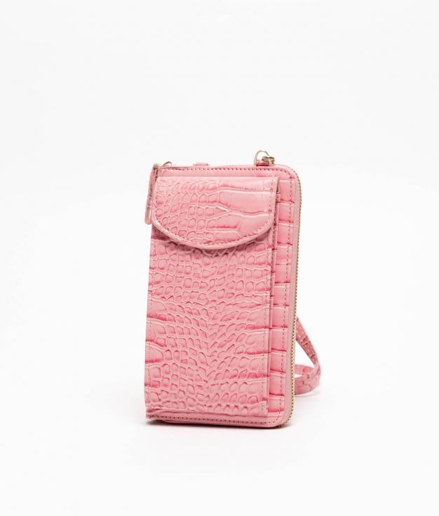 Wallet Mobile Holder Saravena - Pink