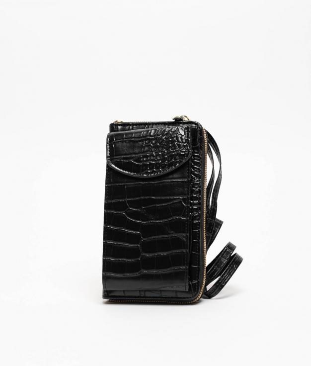 Wallet Mobile Holder Saravena - Black