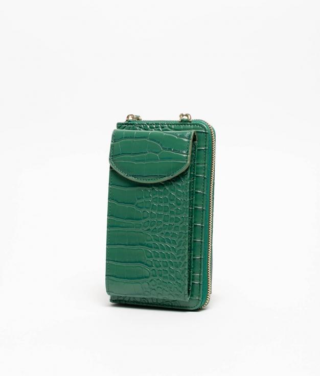 Wallet Mobile Holder Saravena - green
