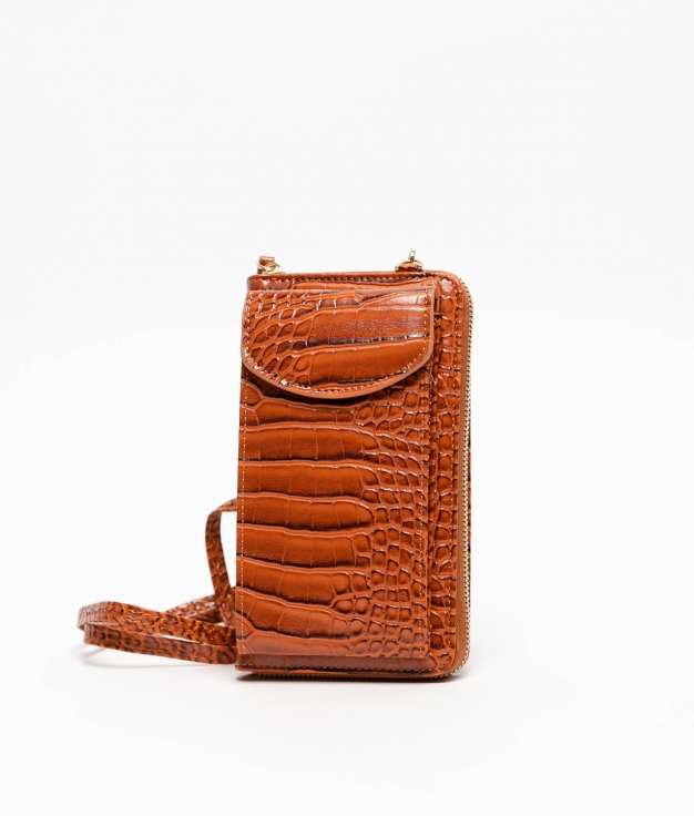 Wallet Mobile Holder Saravena - Brown