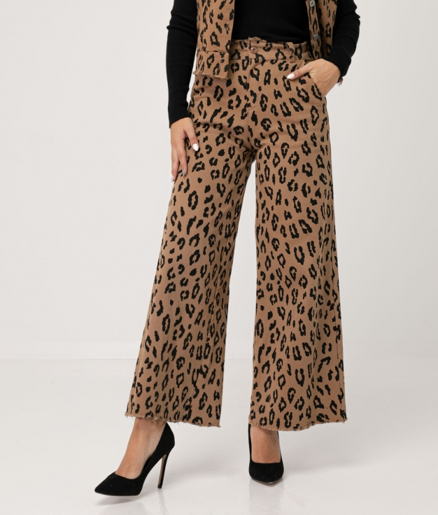 SARBOS TROUSERS - LEOPARD