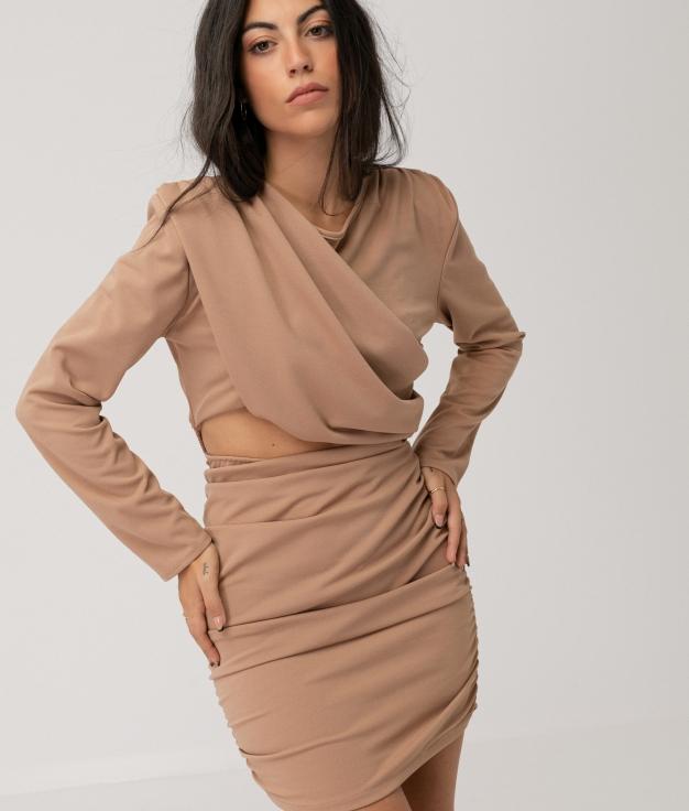 BERRAN DRESS - BEIGE