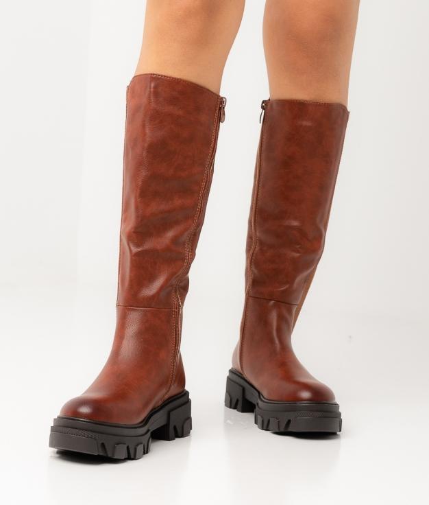Knee-Length Boot Kuzy - Camel
