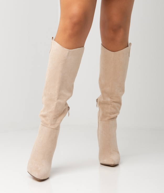 FRELY KNEE-LENGHT BOOT - BEIGE