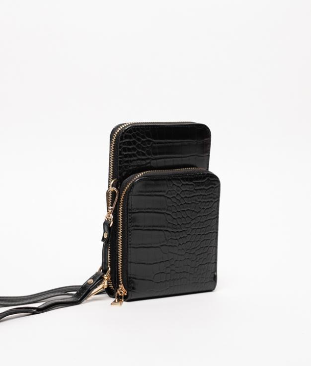 Wallet Mobile Holder Famatina - Black
